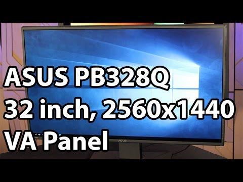 asus pb328q 2560x1440 32-in va-panel monitor manual