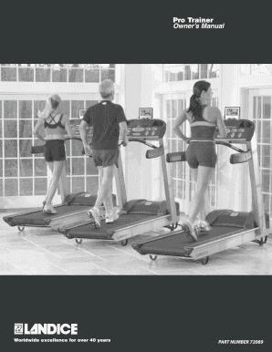landice l7 cardio trainer treadmill manual