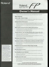 roland digital piano fp-2 manual