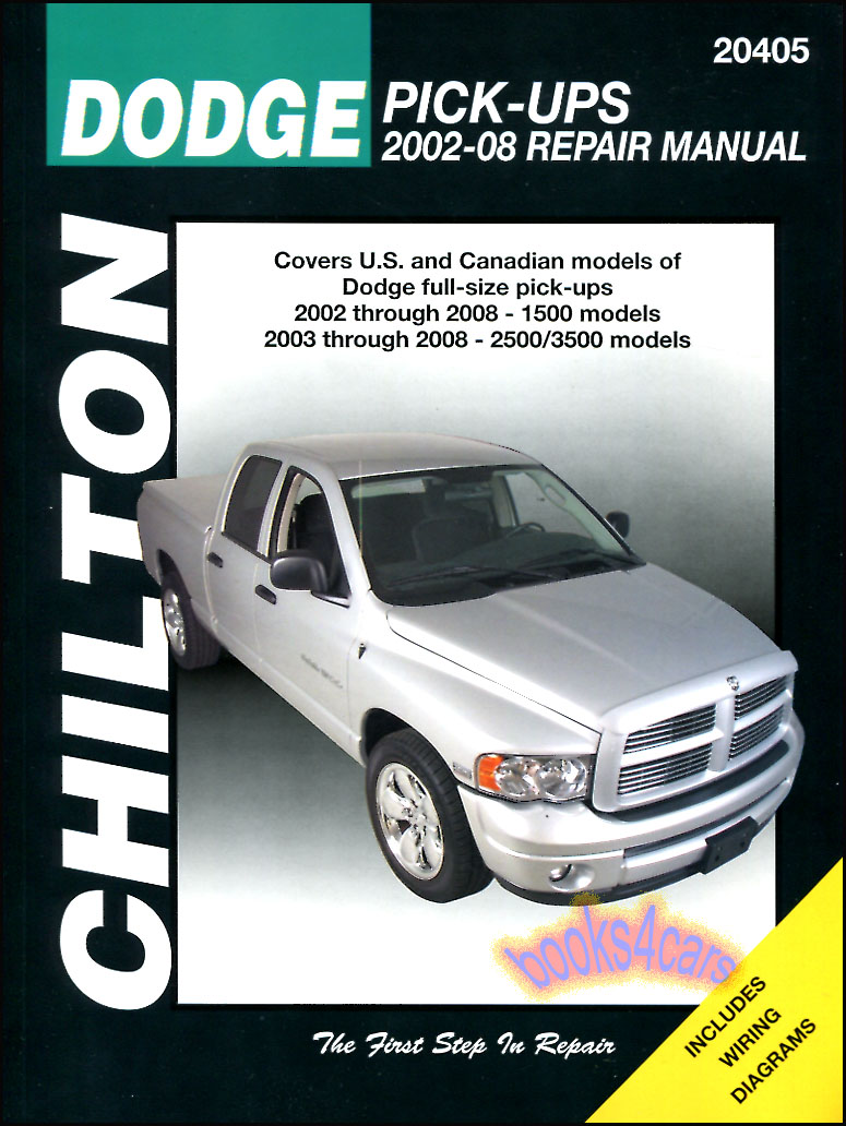 2008 dodge ram diesel service manual