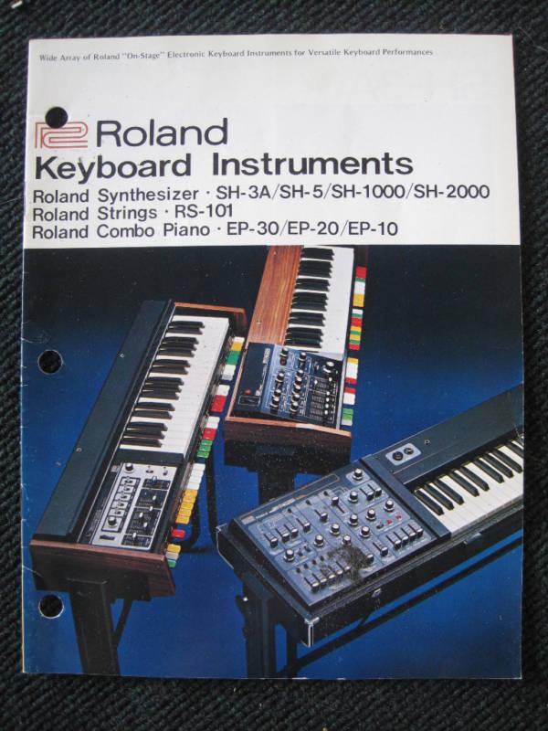roland sh 1000 synthesizer manual