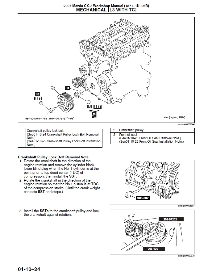 2007 mazda cx-7 shop manual