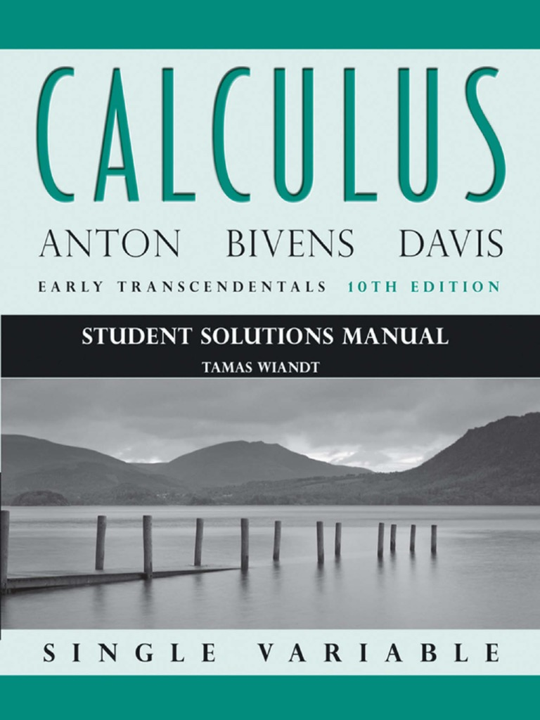 calculus single variable anton solution manual free