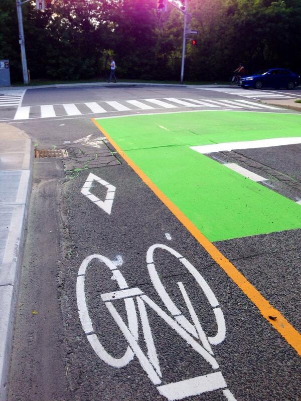 ontario traffic manual bike sign