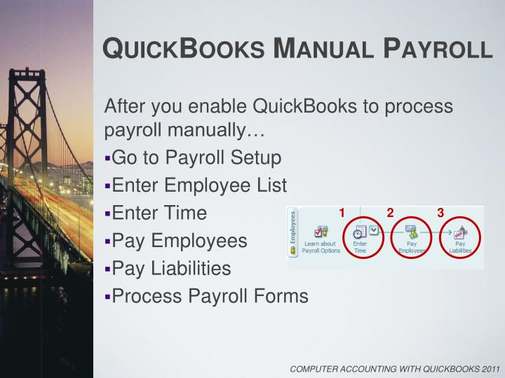 how to do payroll in quickbooks manually