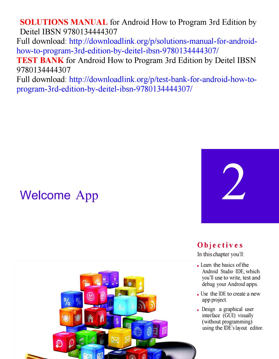 android how to program 3rd solution manual