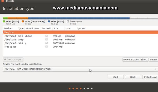 ubuntu 16.04 manual partitioning