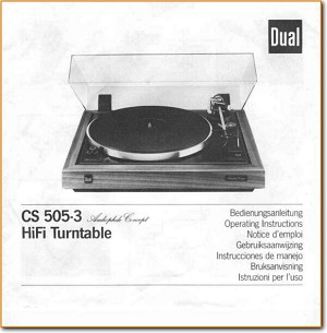 dual cs 514 turntable manual