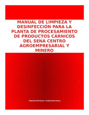 manual de limpieza y desinfeccion en restaurantes