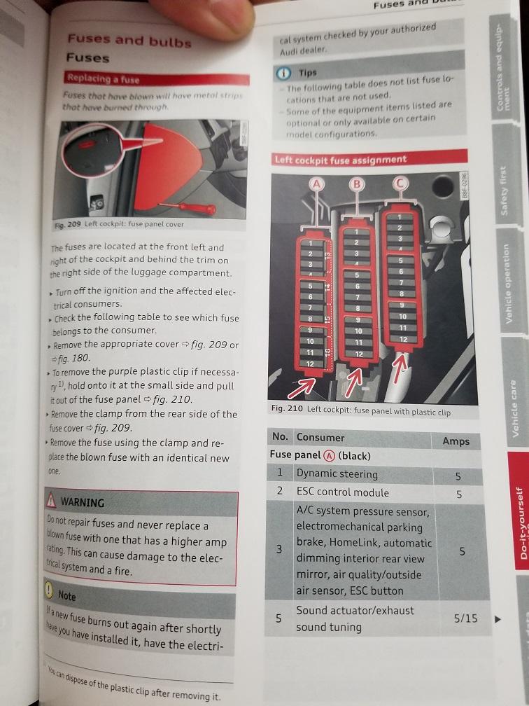 s4 b8.5 interior manual