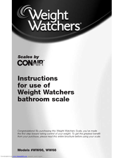conair weight watchers scale manual ww52c