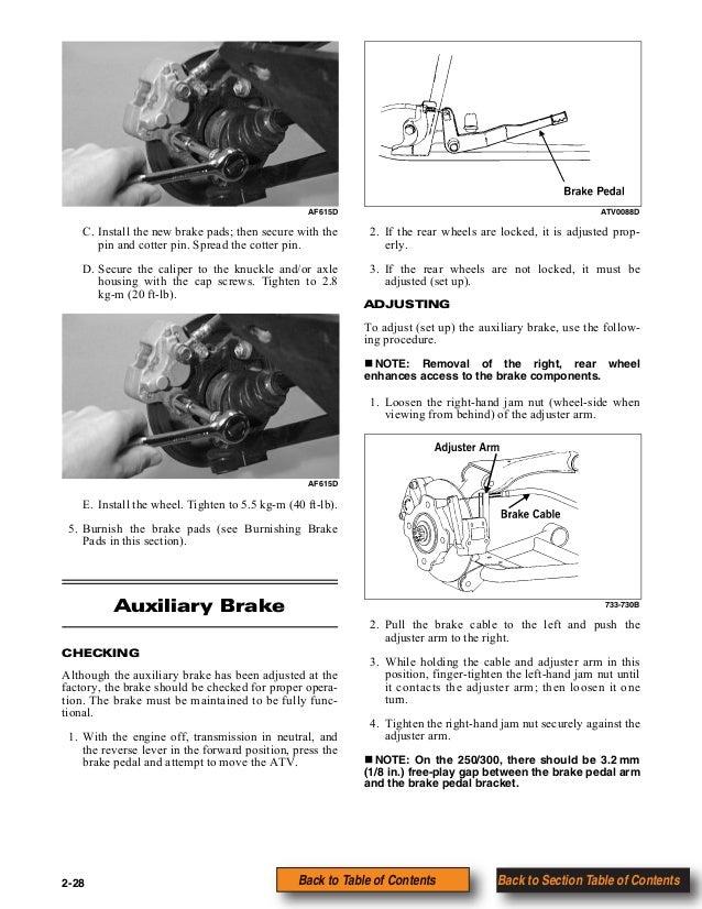arctic cat atv 300 2x4 service manual