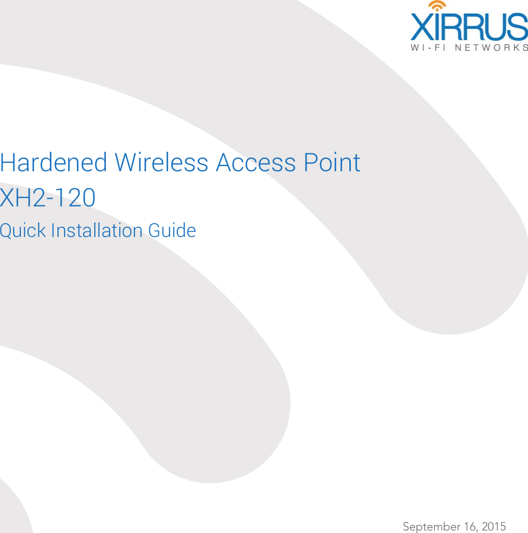 xirrus xr-620 user manual