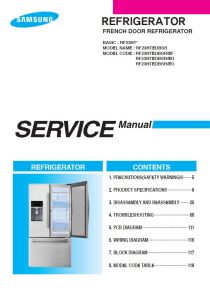 samsung refrigerator service manual modelrf4287hars