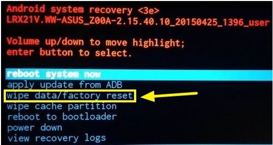 how to do a factory reset manually on acer tablet