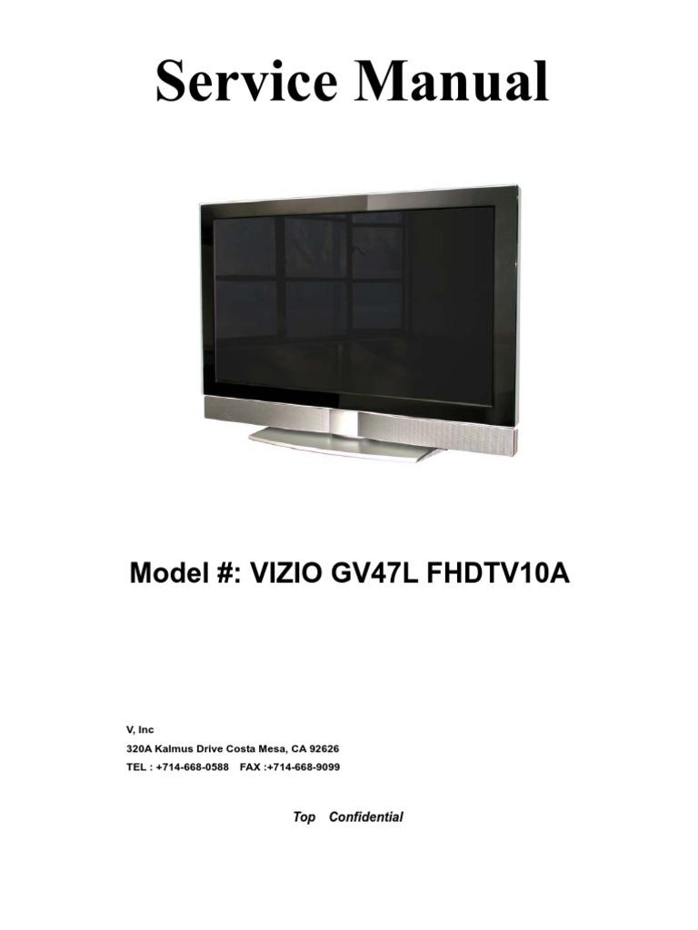 vizio d50f-e1 owners manual
