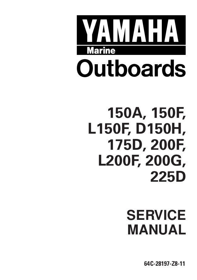 yamaha outboard service manual f150