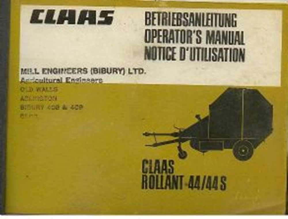 claas rollant 62 parts manual