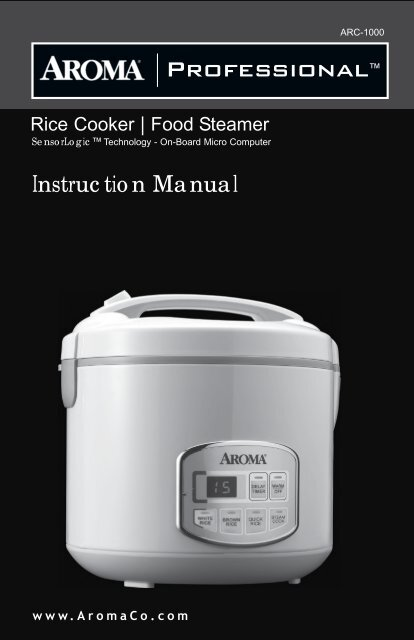 aroma professional rice cooker arc-2000 manual