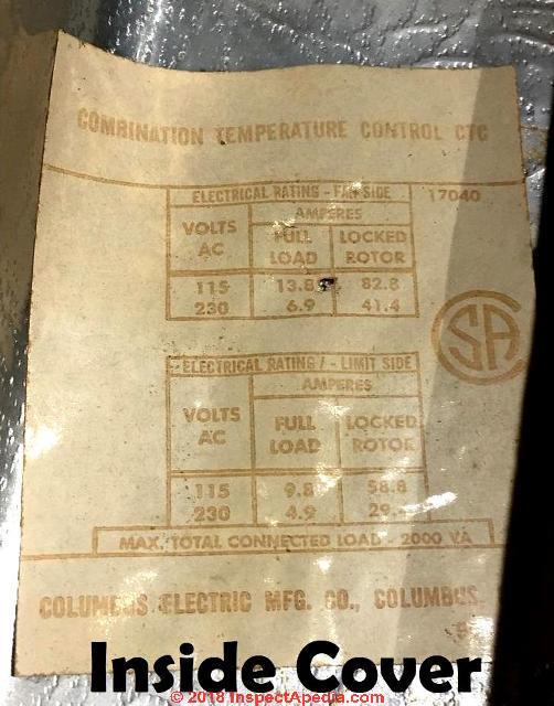 columbus electric kt-110 ventilation thermostat manual