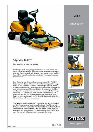 stiga park royal 136114 parts manual