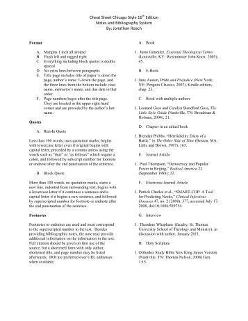 chicago manual of style footnotes explanation