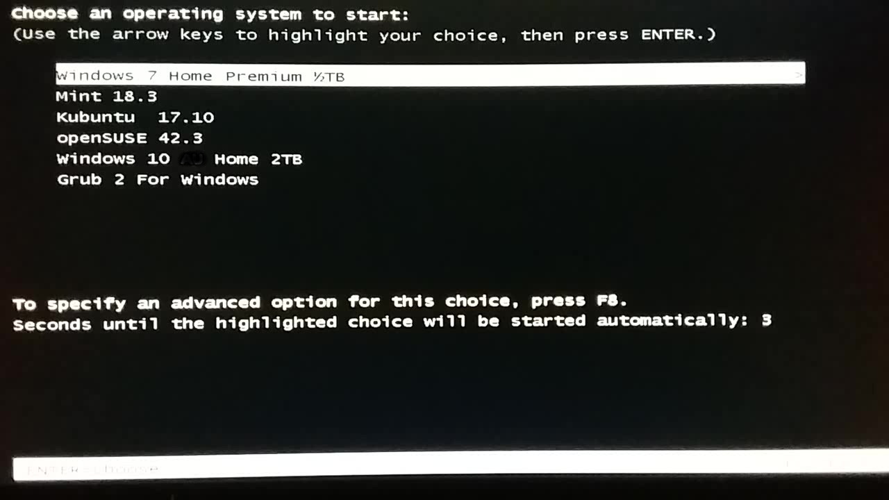 manual partition for linux mint 18.3