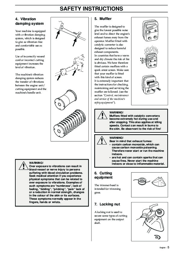 husqvarna 55 chainsaw user manual