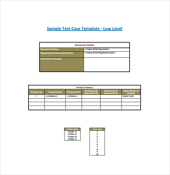 sample test cases manual testing excel