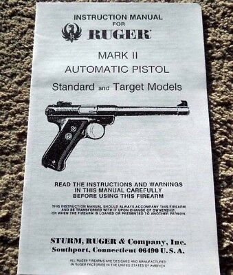 ruger 22 mark ii owners manual