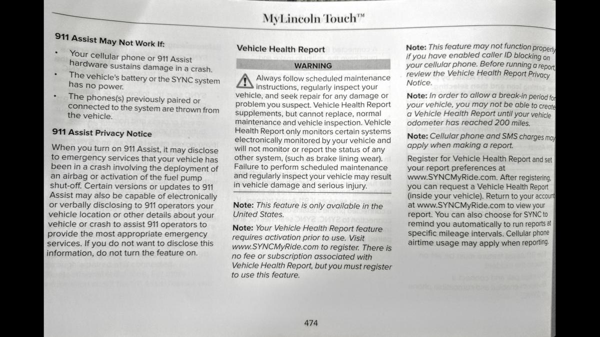 2010 lincoln mkx sync manual