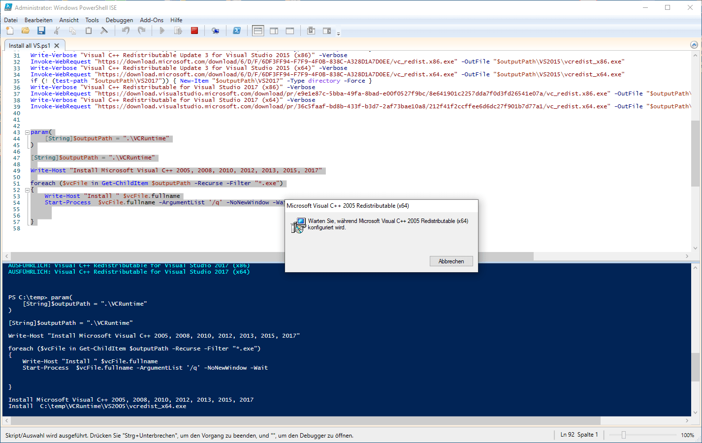 ms visual c redistributable manual install
