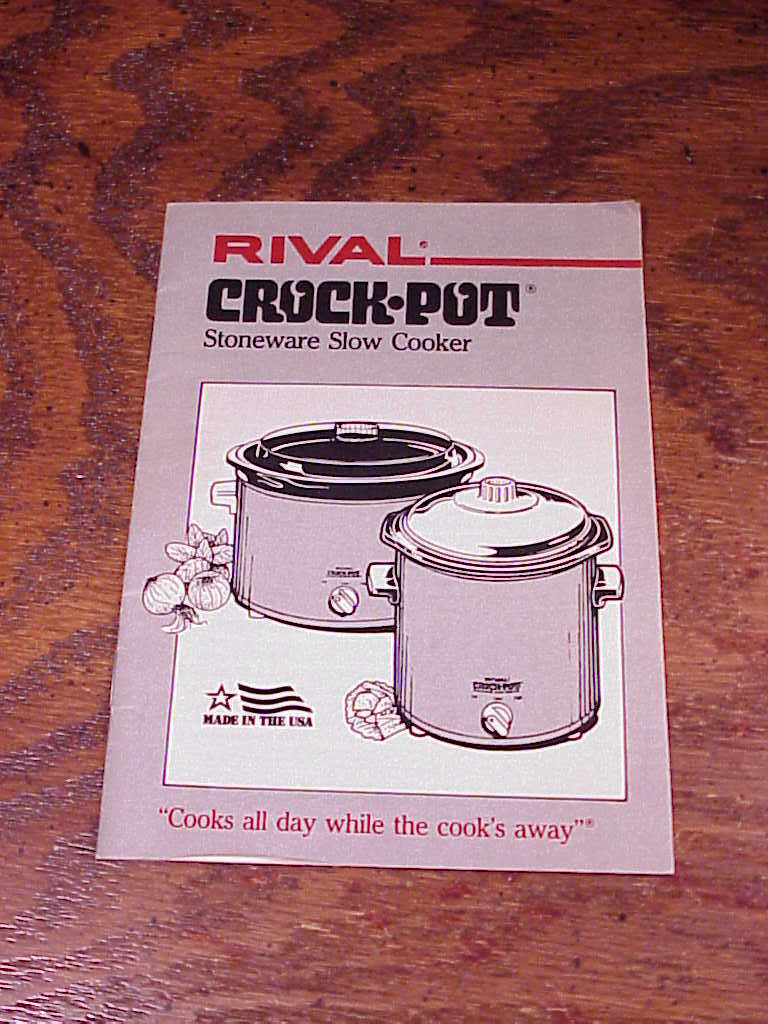 rival crock pot instruction manual uk