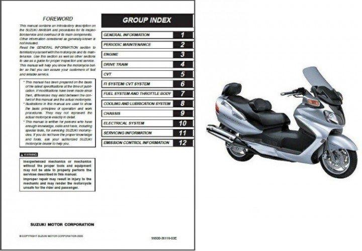 2005 suzuki burgman 650 owners manual
