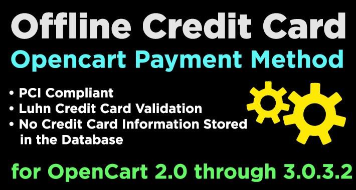 opencart manual credit card processing
