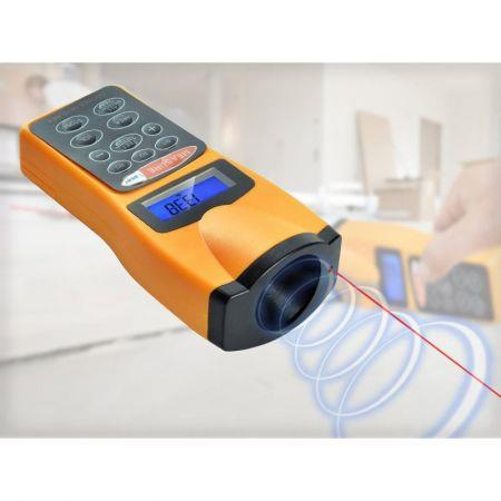 ultrasonic distance measurer with laser pointer manual
