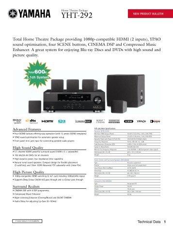 yamaha yht 3920ubl user manual