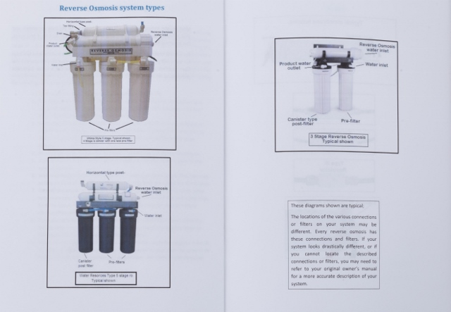 excalibur 3 stage reverse osmosis manual