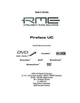 rme fireface 400 manual pdf