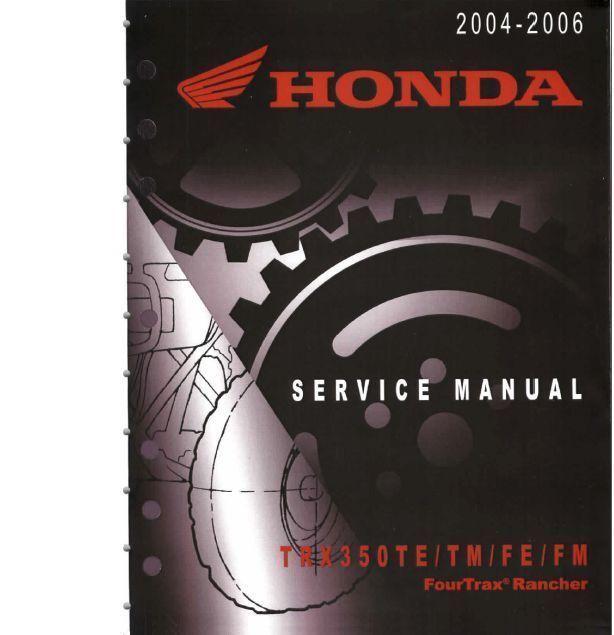 honda trx 400 1995-2003 service manual