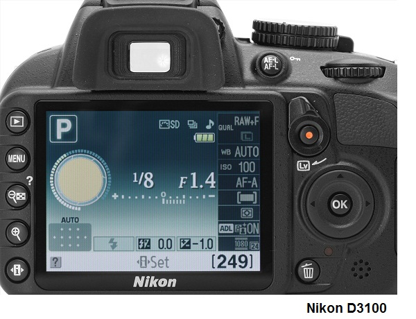 hopw to use manual mode on nikon d3100