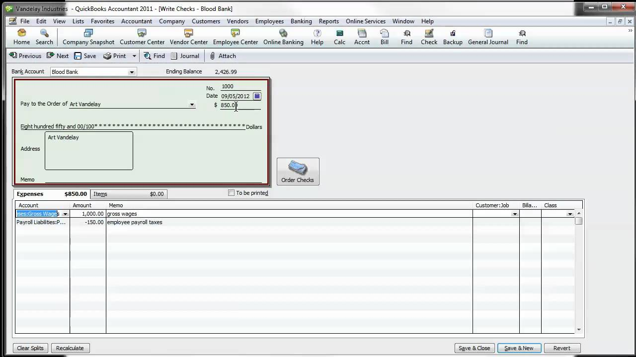 how to do manual payroll in quickbooks 2012