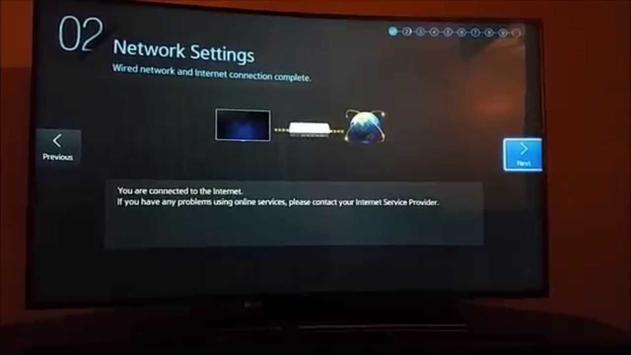 how to manually fill in samsung tv internet settings