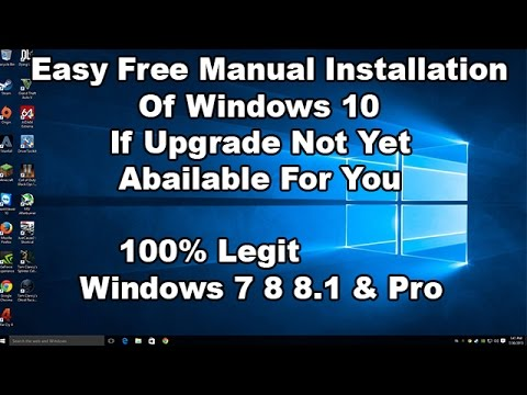 how to manually install wundows 10 update