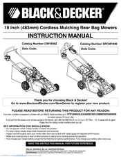 instruction manual for black and decker lawn mower mm875