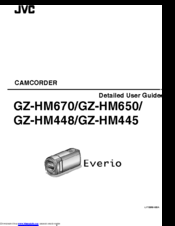 jvc everio gz hm440 user manual