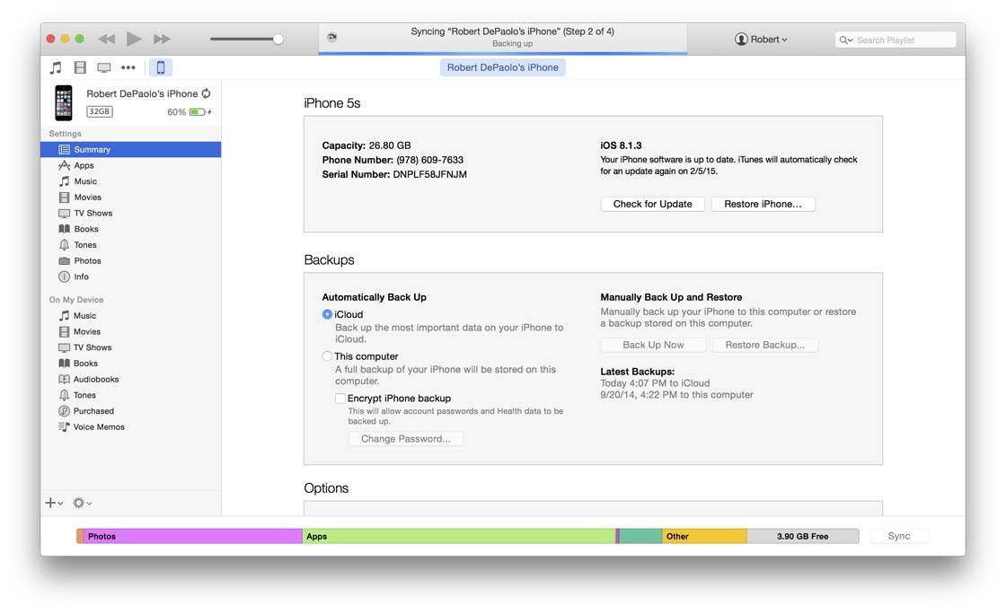 manually copy files from iphone to mac