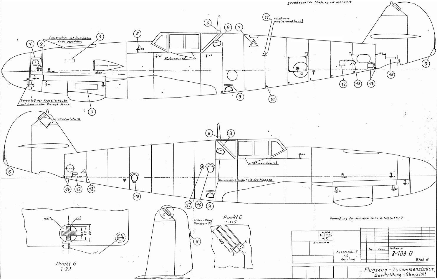 messerschmitt bf 109 blueprints aircraft manuals plans me109