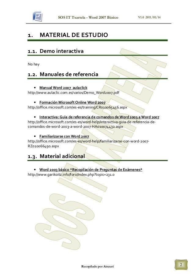 microsoft word 2007 training manual