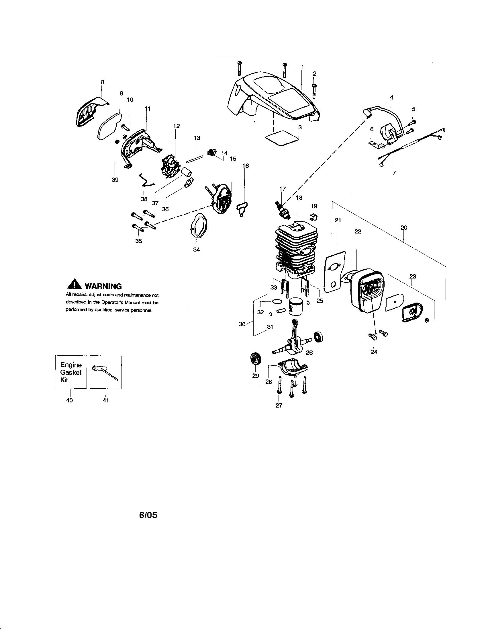 poulan chainsaw model p3416 manual